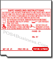 TEC Scale Labels - SL-9000 - LST-4914