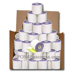 "2 PLY Carbonless Paper Rolls - 3"" x 90' - 50 Rolls/Box"