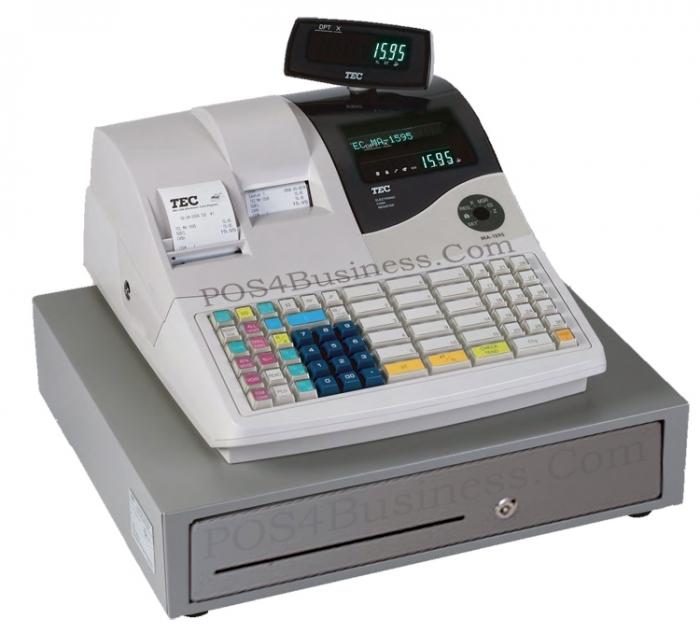 tec ma 1595 cash register raised keyboard rh pos4business com Casio Cash Register Manual SAM4s Cash Register Manual