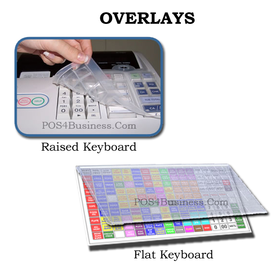 Casio Cash Register Keyboard Cover Overlays