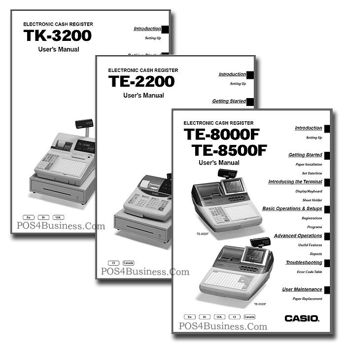 Casio Cash Register Manual Pdf
