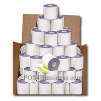 2 PLY Carbonless Direct Impact Paper Rolls - 2 1/4 x 51' - 50 Rls/Box